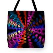 Neon Rave Blur Tote Bag