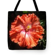 Neon-red Hibiscus 6-17 Tote Bag