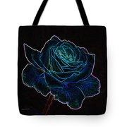 Neon Rose 3 Tote Bag