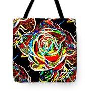 Neon Rose Tote Bag