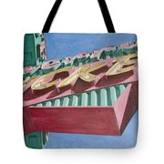 Neon Sign Cherry Cricket Tote Bag