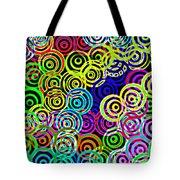 Neon Swirls Tote Bag