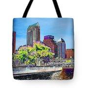 Neon Tampa Tote Bag