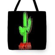 Neon Tucson Cactus Tote Bag