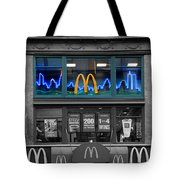 Neon Twin Towers Tote Bag
