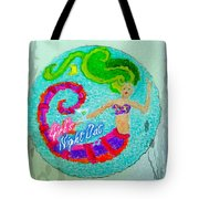 Neon Undersea Invitation Girls Night Out Tote Bag