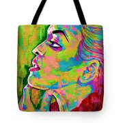 Neon Vibes Painting Tote Bag