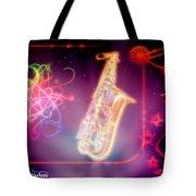 Neons Saxaphone Tote Bag