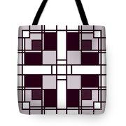 Neoplasticism Symmetrical Pattern In Pinkish Gray Tote Bag