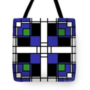 Neoplasticism Symmetrical Pattern In Sapphire Blue Tote Bag