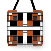 Neoplasticism Symmetrical Pattern In Tijuna Gamboge Tote Bag
