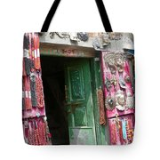 Nepalese Jewelry Shop Tote Bag