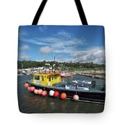 Neptune At The Harbour Tote Bag