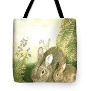 Nesting Bunnies Tote Bag
