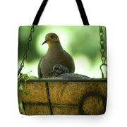 Nesting Doves, Hanging Basket, Balcony Garden, Hunter Hill, May  Tote Bag