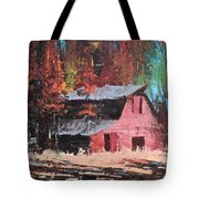 Nestled In The Pines Tote Bag