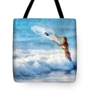 Net Fishing The Sea Tote Bag