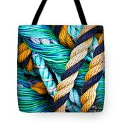 Nets And Knots Number Five Tote Bag by Elena Nosyreva