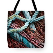 Nets And Knots Number Six Tote Bag