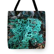 Netting And The Sea Tote Bag
