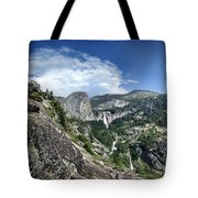 Nevada And Vernal Falls From Near Grizzly Peak - Yosemite Valley Tote Bag