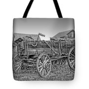 Nevada City Montana Freight Wagon Tote Bag by Daniel Hagerman