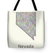 Nevada Line Art Map Tote Bag
