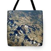 Nevada Mountain Terrain Aerial Lakes Tote Bag