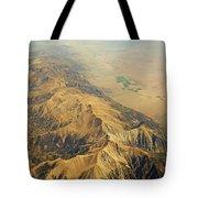 Nevada Mountain Terrain Aerial Tote Bag