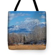 Nevada Ranch In Winter Tote Bag