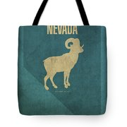 Nevada State Facts Minimalist Movie Poster Art Tote Bag