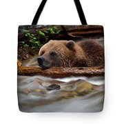 Never Give Up - Wilderness Art Tote Bag