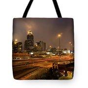 Never Sleeping Atlanta In Motion Midtown Light Trails Art Tote Bag
