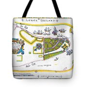 New Amsterdam Map, 1661 Tote Bag