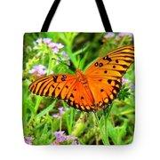 Windows From Heaven Orange Butterfly Tote Bag