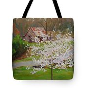New Blossoms Old Barn Tote Bag