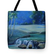 New Braunfels River Scene  Tote Bag