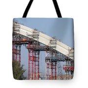 New Bridge Concrete Arc Construction Site Tote Bag