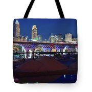 New Bridge From Along The River Tote Bag