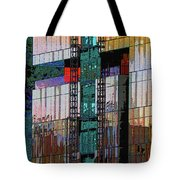 New Building Reflecting Colors Tote Bag