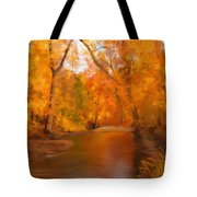 New England Autumn In The Woods Tote Bag by Becky Herrera