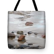 New England Beach With Rocks And Waves Tote Bag
