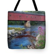 New England Covered Bridge Connecticut Tote Bag