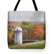 New England Fly Over Square Tote Bag