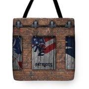 New England Patriots Brick Wall Tote Bag