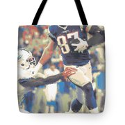 New England Patriots Rob Gronkowski 3 Tote Bag