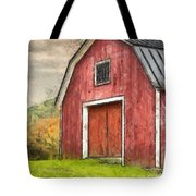 New England Red Barn Pencil Tote Bag