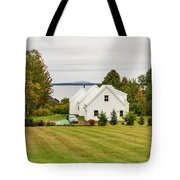 New England Traditional House In The Fall Tote Bag