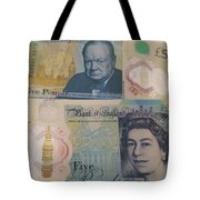 New Five Pound Notes Tote Bag