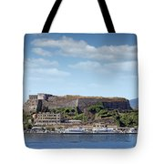 new fortress and port Corfu town Greece Tote Bag